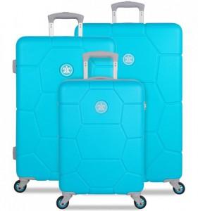 SUITSUIT Caretta Peppy Blue sada 3 cestovních kufrů 75/65/55 cm