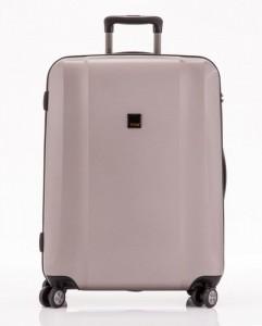 Titan Xenon 4w M Champagne polykarbonátový cestovní kufr na 4 kolečkách TSA 67 cm
