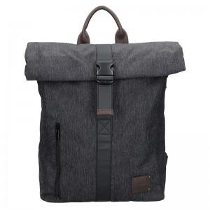 Pánský vintage batoh Lerros Uban – černo-šedá