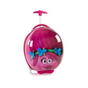 Heys Kids 2w Trolls Pink dětský skořepinový cestovní kufřík 41 cm