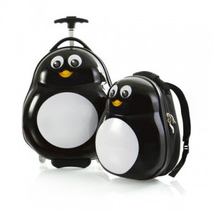 Heys Travel Tots Lightweight Kids Penguin – sada batohu a kufru