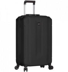 Azure Sirocco T-1177 S Black ABS cestovní kufr na 4 kolečkách TSA 58 cm