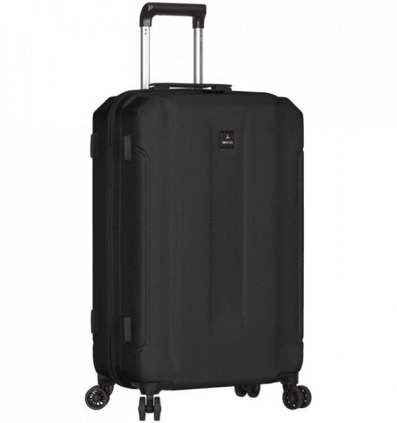 Azure Sirocco T-1177 M Black ABS cestovní kufr na 4 kolečkách TSA 71 cm