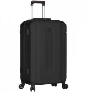 Azure Sirocco T-1177 L Black ABS cestovní kufr na 4 kolečkách TSA 81 cm