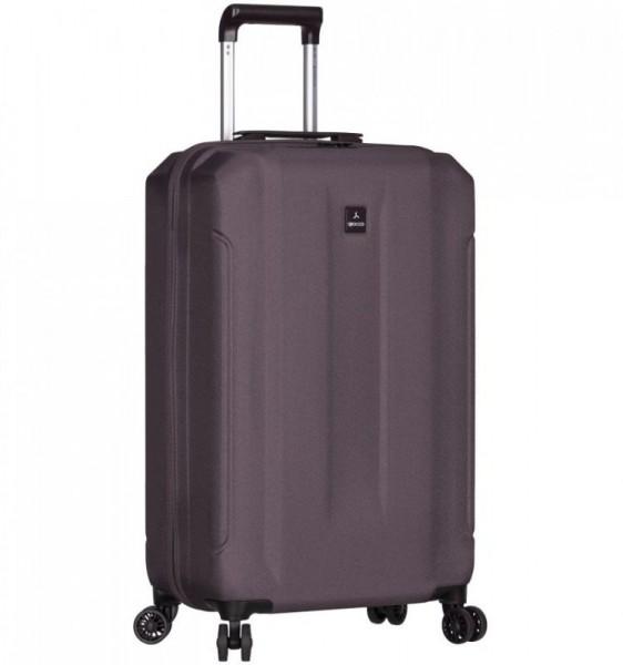 Azure Sirocco T-1177 S Grey ABS cestovní kufr na 4 kolečkách TSA 58 cm