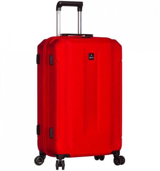 Azure Sirocco T-1177 L Red ABS cestovní kufr na 4 kolečkách TSA 81 cm