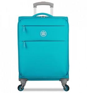 SUITSUIT Caretta Soft S Peppy Blue palubní cestovní kufr na 4 kolečkách 55 cm