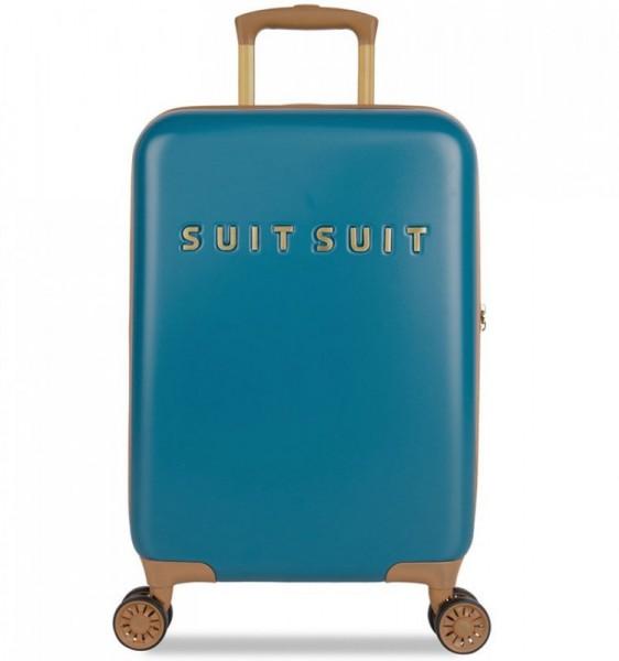 SUITSUIT Fab Seventies S Seaport Blue palubní kufr na 4 kolečkách TSA 55 cm