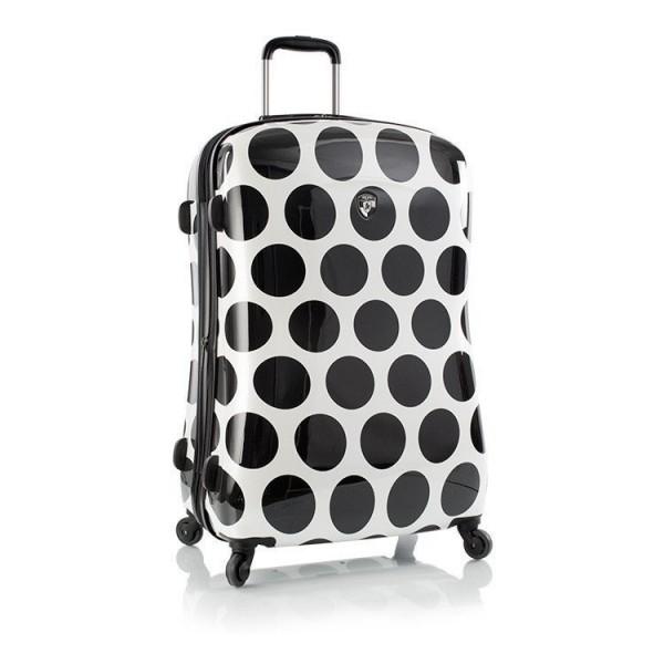 Heys Spotlight L skořepinový cestovní kufr na 4 kolečkách TSA 76 cm bílá/černá