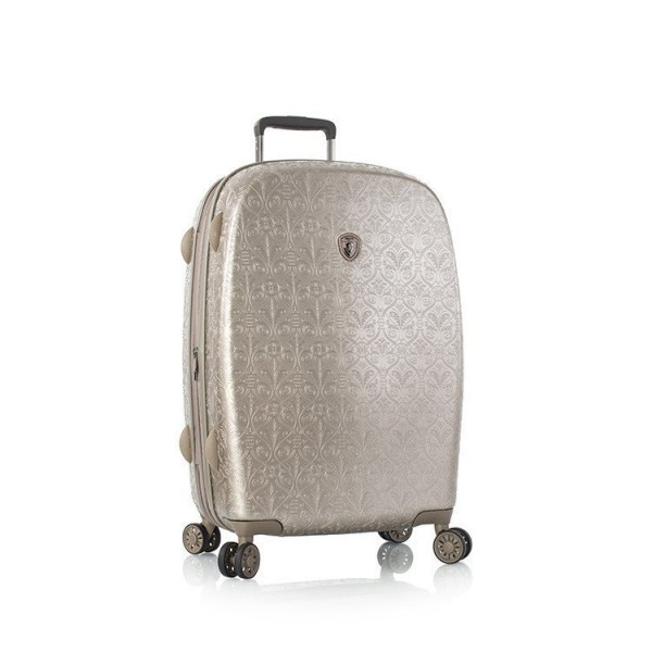 Heys Motif Femme M Champagne luxusní cestovní kufr na 4 kolečkách TSA 66 cm