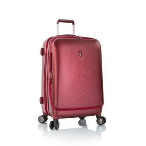 Heys Portal Smart M Burgundy inovativní cestovní kufr na 4 kolečkách TSA 66 cm