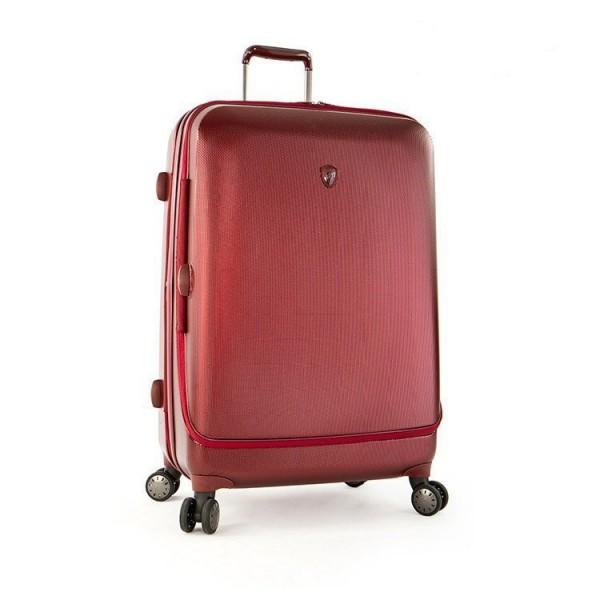 Heys Portal Smart L Burgundy inovativní cestovní kufr na 4 kolečkách TSA 76 cm