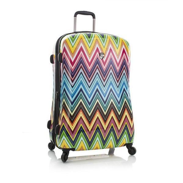Heys Colour Herringbone 2G L stylový skořepinový cestovní kufr na 4 kolečkách TSA 76 cm