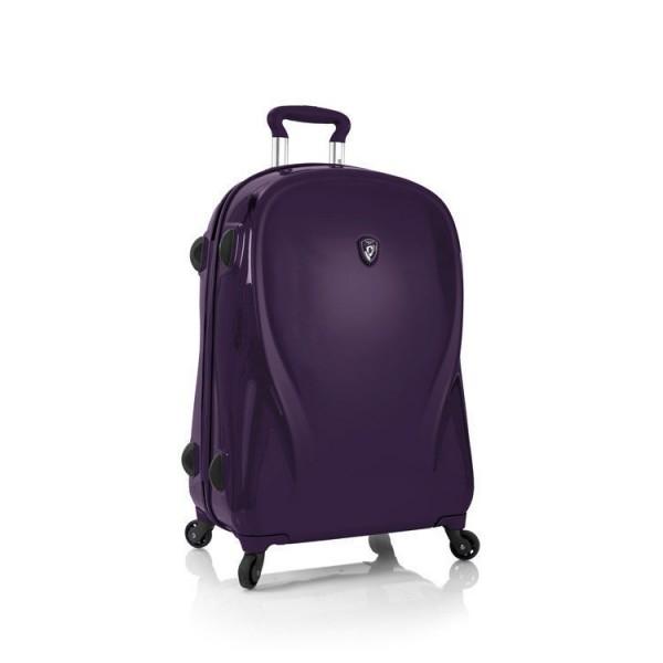 Heys xcase 2G M Ultra Violet špičkový skořepinový kufr na 4 kolečkách TSA 66 cm