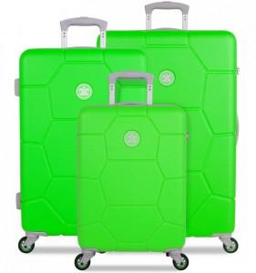 SUITSUIT Caretta Active Green sada 3 cestovních kufrů 75/65/55 cm
