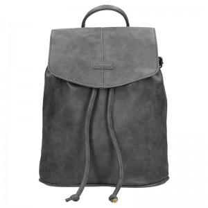 Moderní dámský batoh Piace Molto Adriana – tmavě šedá