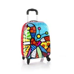 Heys Britto Tween Spinner Butterfly dětský cestovní kufr na 4 kolečkách 51 cm