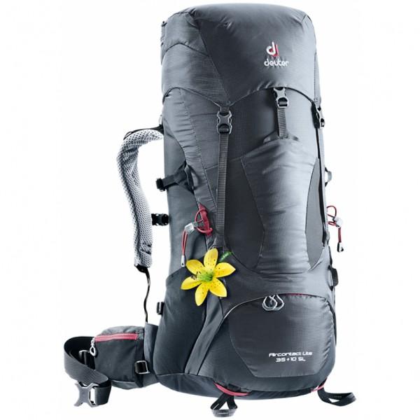 Turistický batoh DEUTER Aircontact Lite 35 + 10 SL graphite-black