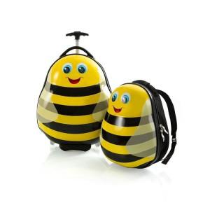 Heys Travel Tots Bumble Bee / Čmelák dětská sada skořepinového cestovního kufru a batohu