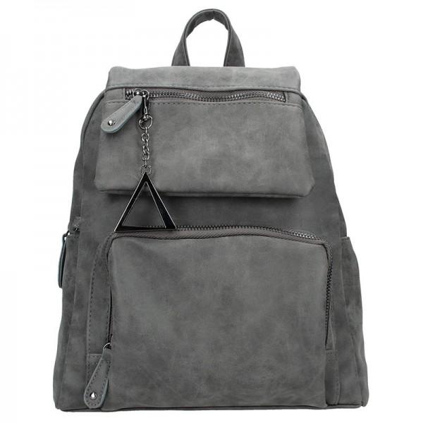 Moderní ekokožený dámský batoh Just Dreamz Apolen – šedá