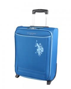 U.S. POLO ASSN. Kabinový cestovní kufr Junior Soft CS 32 l – modrá