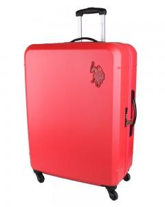 U.S. POLO ASSN. Cestovní kufr Bridle 102 l – červená