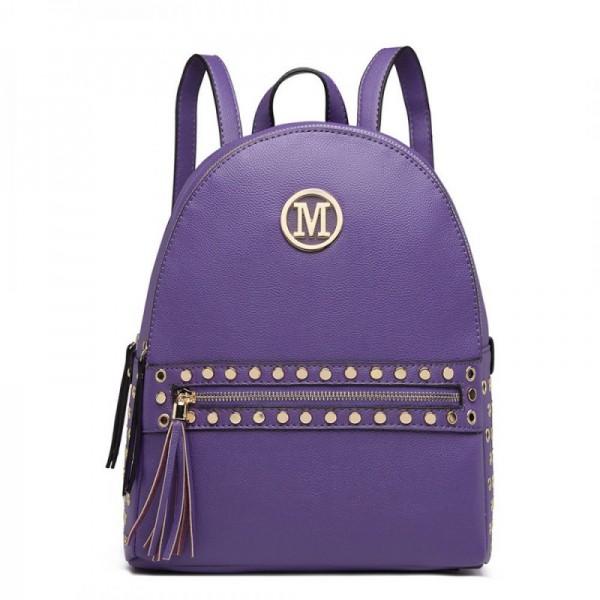 Miss Lulu LH6807 dámský stylový batůžek fialový