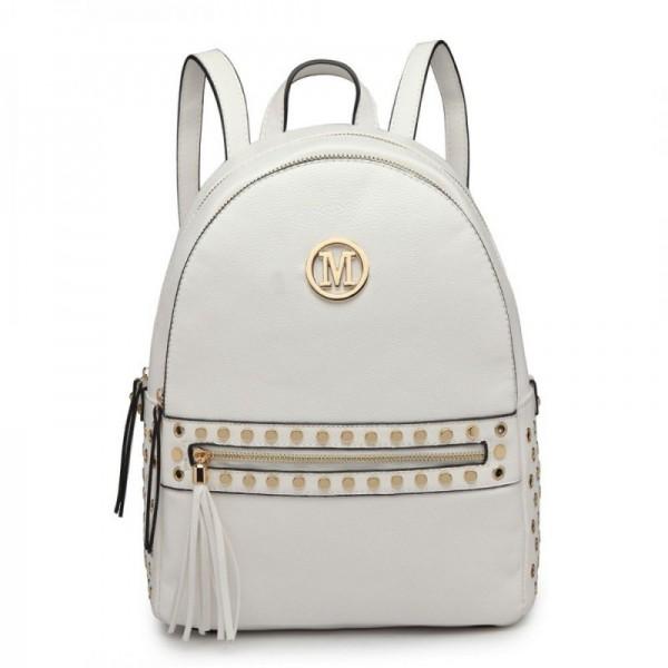 Miss Lulu LH6807 dámský stylový batůžek bílý