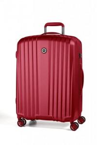 March Everest L Red ultralehký cestovní kufr na 4 kolečkách TSA 75 cm 3,4 kg