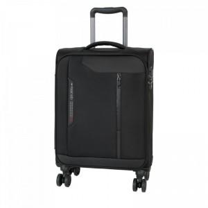 March Stardust S Black palubní cestovní kufr na 4 kolečkách TSA 55 cm 2,0 kg