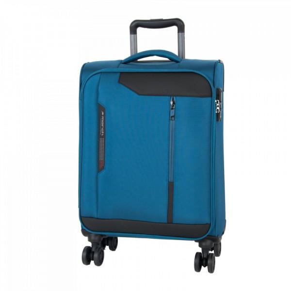 March Stardust S Petrol Blue palubní cestovní kufr na 4 kolečkách TSA 55 cm 2,0 kg