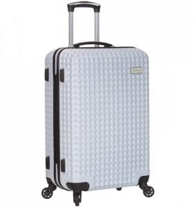 Azure Sirocco T-1195/3-L PC White cestovní kufr na 4 kolečkách TSA 78 cm