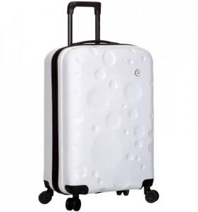 Azure Sirocco T-1194/3-S PC White palubní cestovní kufr na 4 kolečkách TSA 56 cm