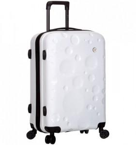 Azure Sirocco T-1194/3-M PC White cestovní kufr na 4 kolečkách TSA 67 cm