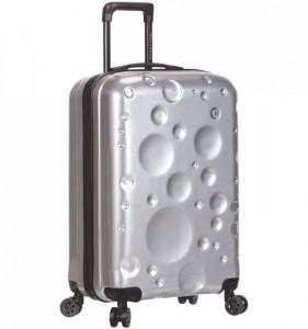 Azure Sirocco T-1194/3-S PC Silver palubní cestovní kufr na 4 kolečkách TSA 56 cm