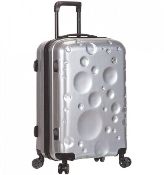 Azure Sirocco T-1194/3-L PC Silver cestovní kufr na 4 kolečkách TSA 77 cm