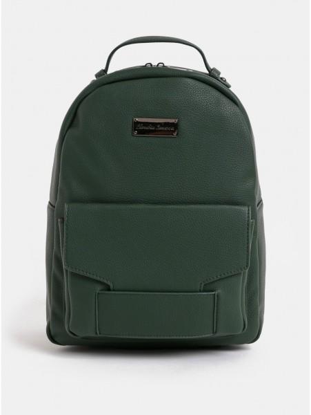 Tmavě zelený batoh s přední kapsou Claudia Canova Majesty