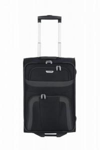 Travelite Orlando S Black textilní palubní cestovní kufr na 2 kolečkách 53 cm