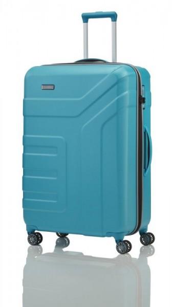 Travelite Vector 4w L Turquoise cestovní kufr na 4 kolečkách TSA 77 cm 103 l