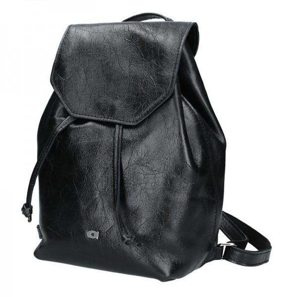 Dámský kožený batoh Daag Jazzy Party 72 -černá