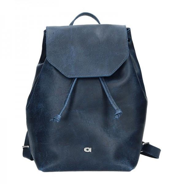 Dámský kožený batoh Daag Fanky GO! 26 – tmavě modrá