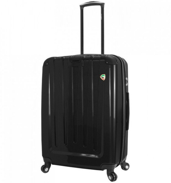 Mia Toro M1321 Como L Black skořepinový cestovní kufr na 4 kolečkách 70 cm 77-96 l