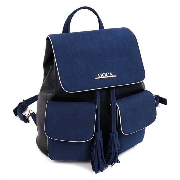 Dámský batůžek Doca 13543 – modrá