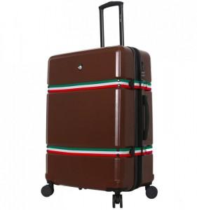 Mia Toro M1543 Nastro L Brown cestovní kufr na 4 kolečkách TSA 78 cm 103-124 l