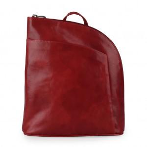 Sněžka Náchod Dámský kožený batoh 5114 – tmavě červená