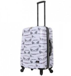 HALINA Valeria Valeria M Aubergine cestovní kufr na 4 kolečkách TSA 66 cm