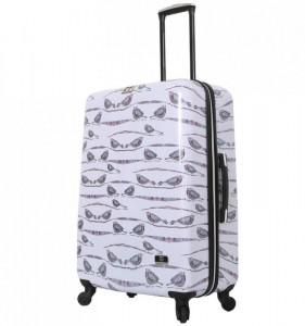 HALINA Valeria Valeria L Aubergine cestovní kufr na 4 kolečkách TSA 76 cm