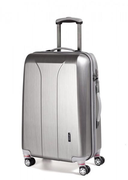 March Kabinový cestovní kufr New Carat 34,5 l – stříbrná