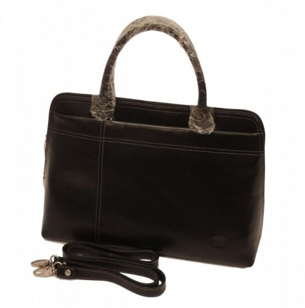 Katana 82563 Noir dámská luxusní kožená aktovka, černá