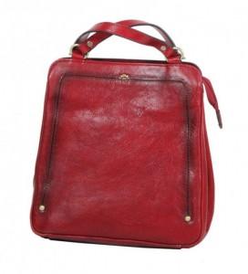 Katana 66806 Rouge dámský luxusní kožený batůžek, červený